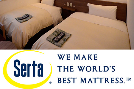 We use bed mattress of Serta.